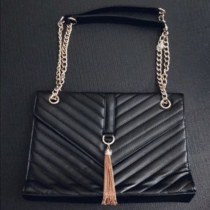 Handbags - Leather purse with gold